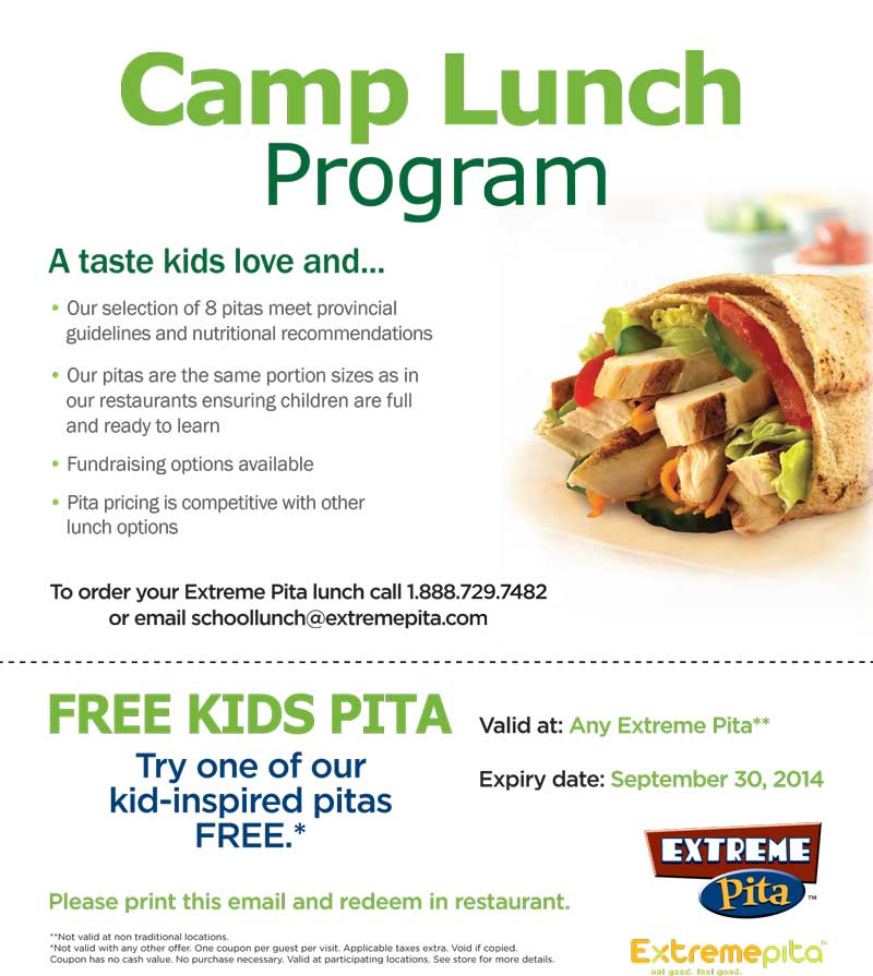 Extreme Pita - Kids Pita Coupon